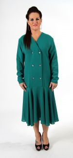 Smart green business dress