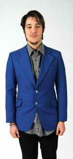 Men's royal blue blazer