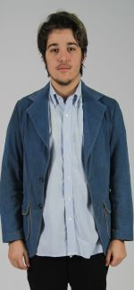 Brushed denim casual jacket